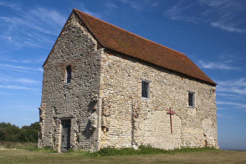 Download St Peter's Chapel, Bradwell-on-Sea, Essex, England Stock Image - Image: 26673011