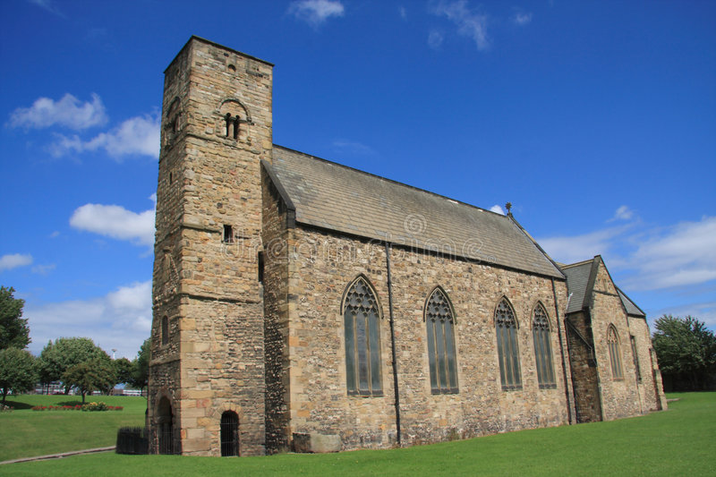 St Peter's Church. St Peter's Church at Monkwearmouth, Sunderland, Northeast England. One half of the twin Anglo-Saxon monastery of Wearmouth-Jarrow (St stock photos