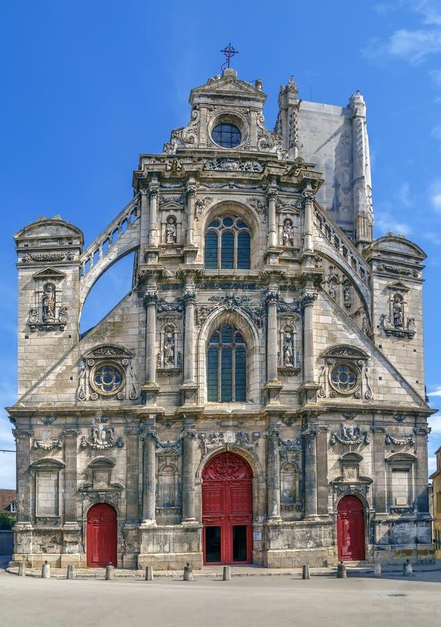 St Peter's Church, Auxerre, Frankrijk stock afbeeldingen
