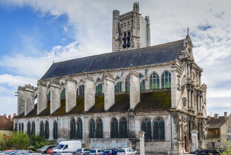 St Peter's Church, Auxerre, Frankrijk royalty-vrije stock fotografie