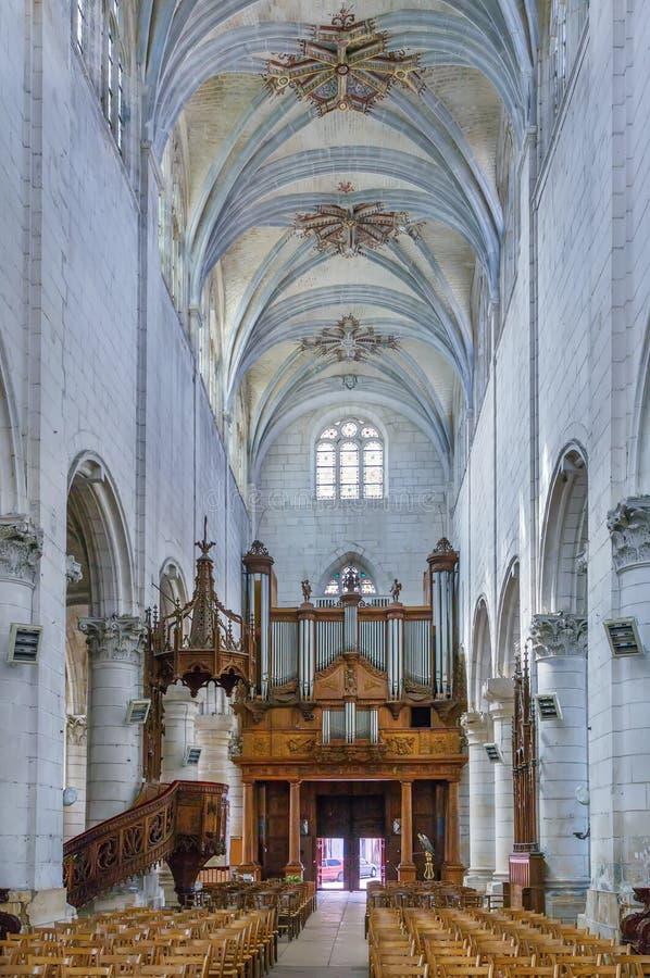 St Peter's Church, Auxerre, Frankrijk royalty-vrije stock afbeeldingen