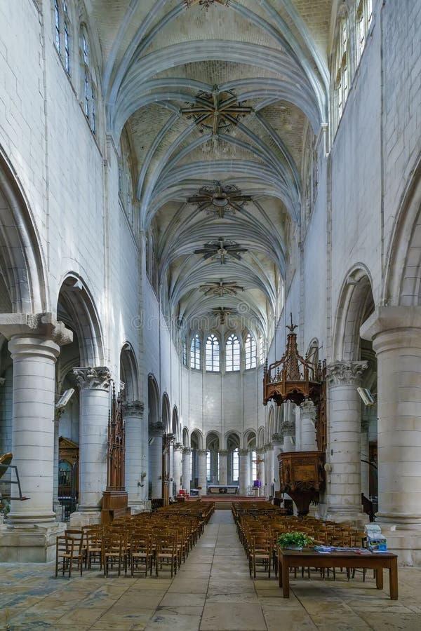 St Peter's Church, Auxerre, Frankrijk royalty-vrije stock foto's
