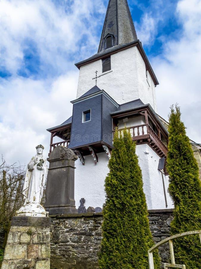 St Peter's Church in Beho, België royalty-vrije stock fotografie