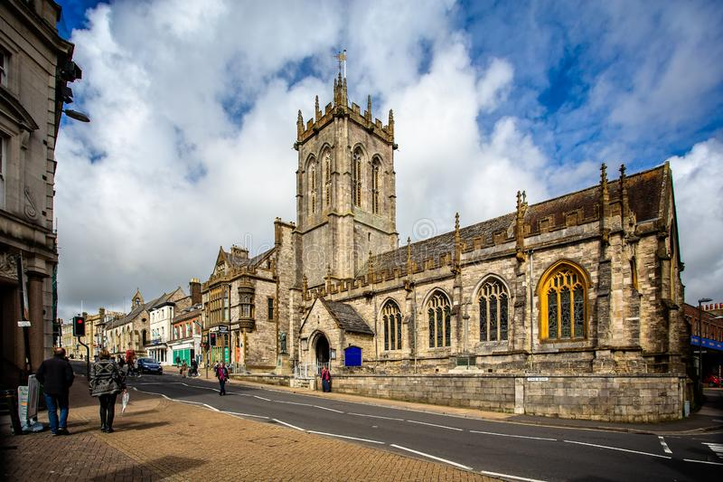 St Peter`s Church in Dorchester royalty free stock photography
