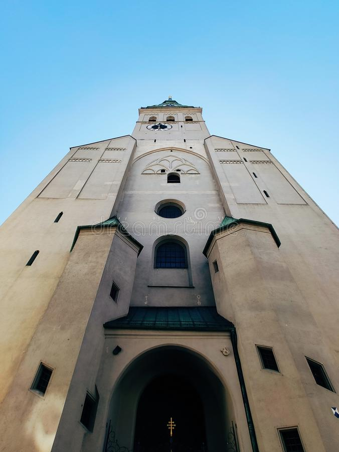 St. Peter& x27;s Church, Munich, Bavaria Germany. Tower of St. Peter& x27;s Church in Munich, Bavaria Germany, aerial, architecture, bavarian, bayern, building stock photos