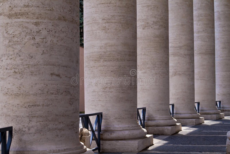 St. Peters Square Columns royalty free stock photography