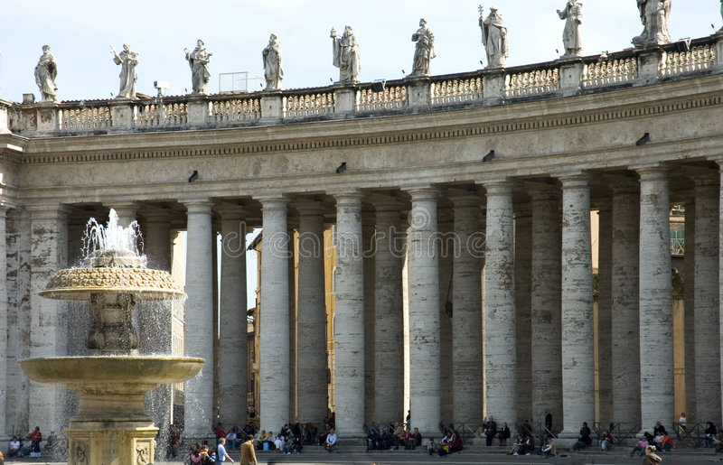St Peter' s Square, Rome stock images