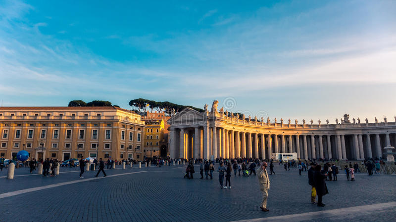 St. Peter's Square in Vatican City stock image