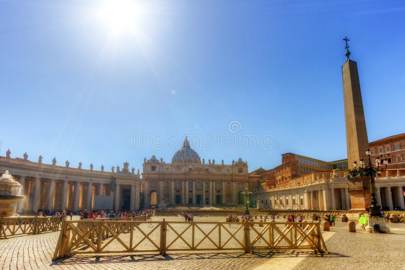 St. Peter`s Square, Vatican City, Italy. St. Peter`s Square by sunny day, Vatican City, Italy stock photos