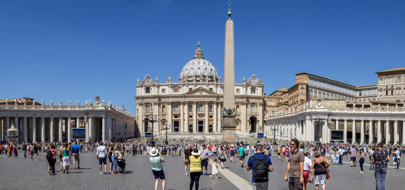 St Peter s Square stock image
