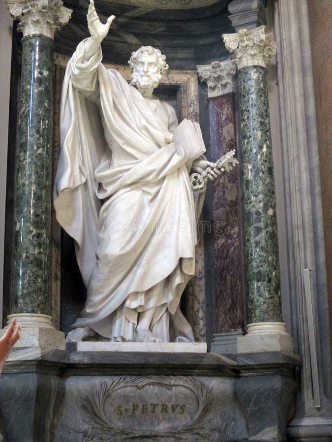 St Peter sculpture San Juan de Letrán is the oldest church in the world.Roma Italy. San Juan de Letrán is the oldest church in the world. Rome Italy.That stock photos