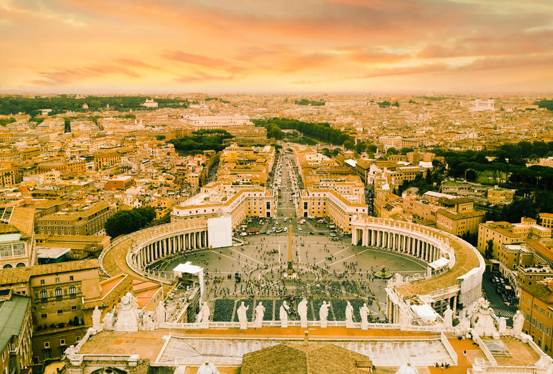 St.Peter Square and Rome royalty free stock photography