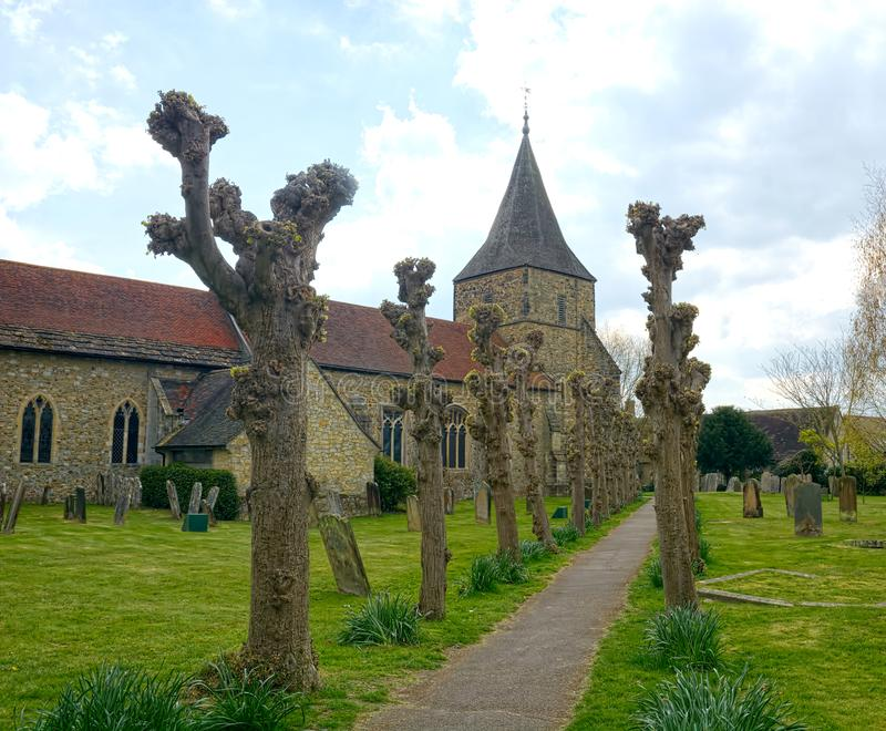 St Peter & St Paul. 13th Century Church. Edenbridge, Kent. UK. This church of St Peter & St Paul in Edenbridge, Kent has an exceptionally complicated royalty free stock photo
