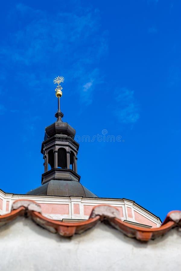 St Peter und St. Paul Basilica, Prag, Rückseitenansicht stockbilder