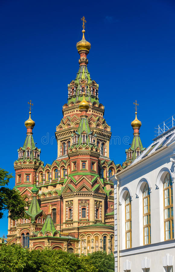 St Peter und Paul Cathedral in Peterhof stockbild