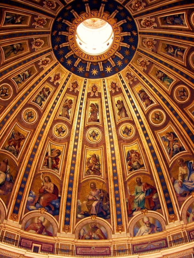 St Peter van de kluis kathedraal Rome stock foto