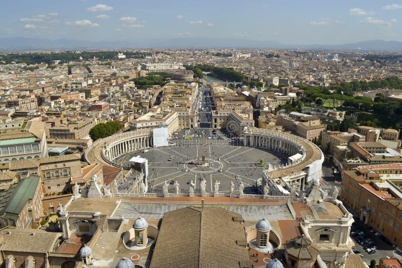 St. Peter Vierkant van Rome in de Staat van Vatikaan stock fotografie
