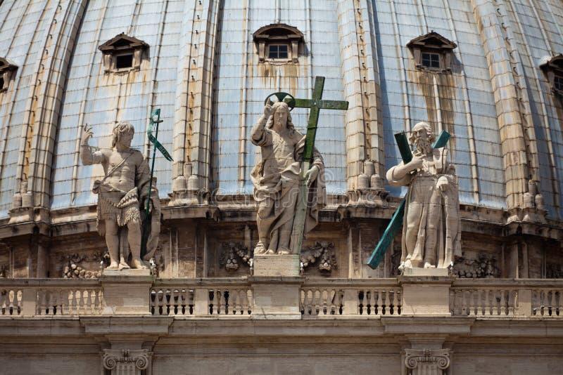 st peters фронта детали базилики стоковая фотография