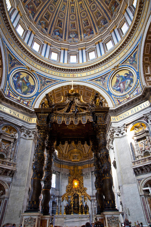 St. Peters Basilica. (Rome, Italy stock photo