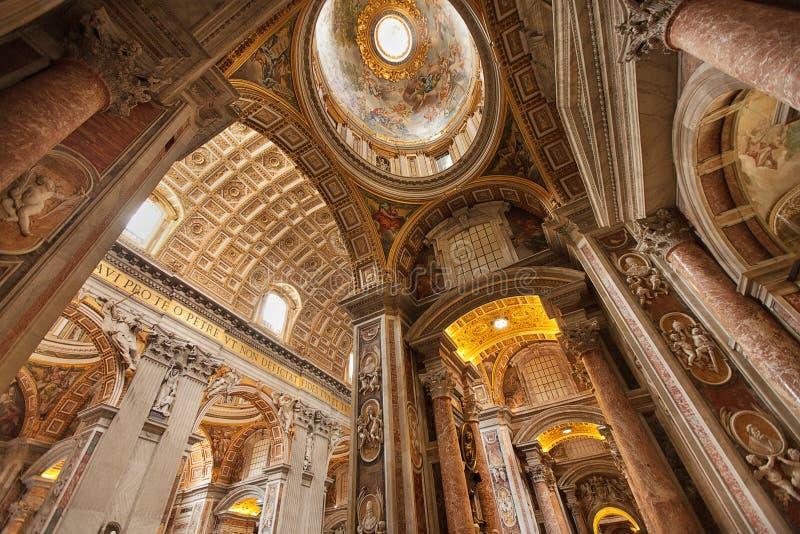 St Peters Basilica foto de stock