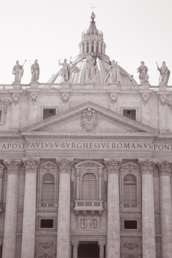 Download St Peters Basilica Church, Rome Stock Photo - Image of black, church: 21958004
