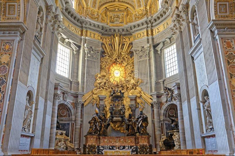St Peters Basilica, Cidade Estado do Vaticano imagem de stock