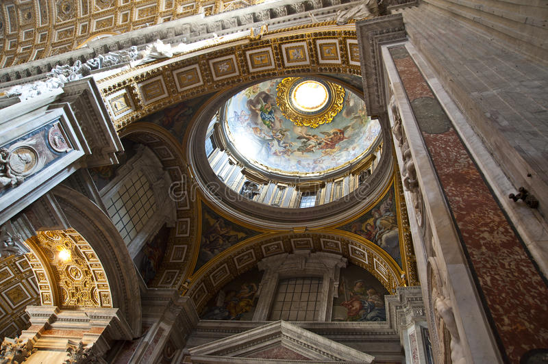 St. Peters Basilica Dome. St. Peters Basilica (Rome, Italy stock images