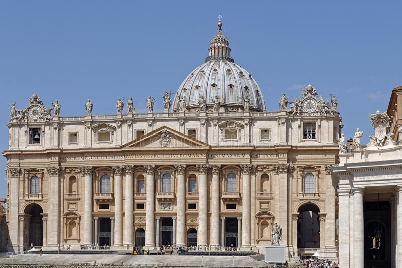 St Peters Basilica, Vatican City royaltyfria bilder
