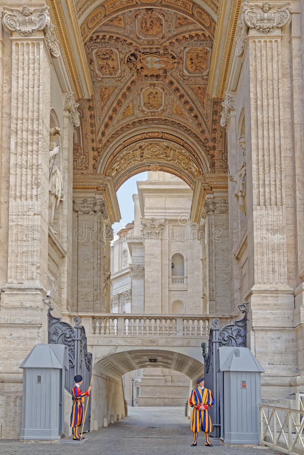 St Peters Basilica, Vatican City arkivbild