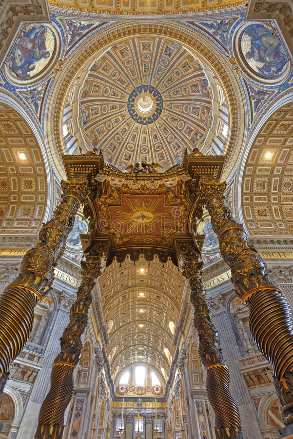 St Peters Basilica, Vatican City arkivfoton