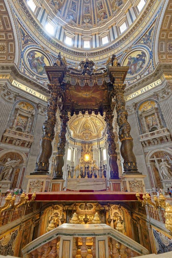 St Peters Basilica, Ville du Vatican photographie stock libre de droits