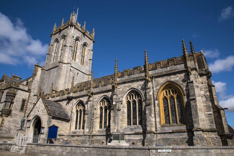 St Peters Church em Dorchester fotos de stock royalty free