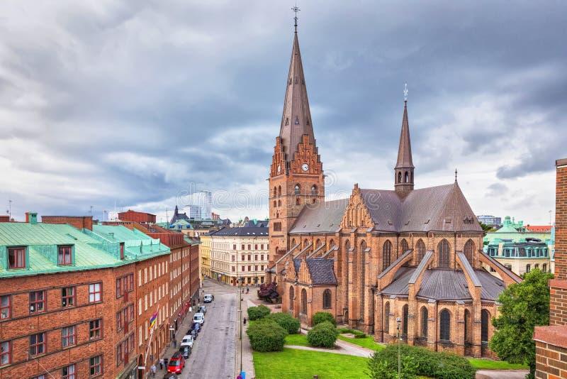 St Peters Church em Malmo, Suécia fotos de stock