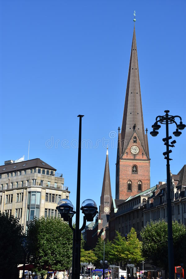 St. Peters Church in Hamburg, Deutschland stockfoto