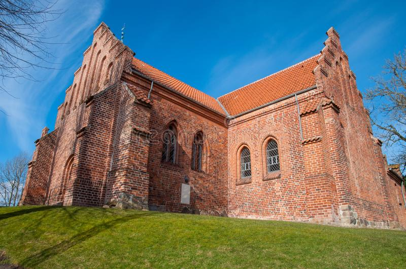St. peters church in town of Slagelse in Denmark. On a sunny day stock images