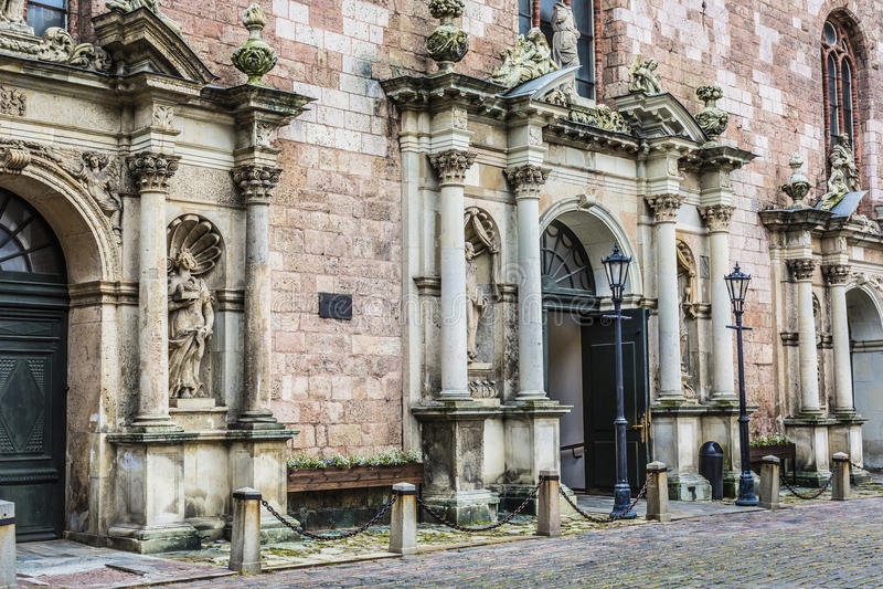 St Peters churchs wejściowi łotwa Riga obrazy royalty free
