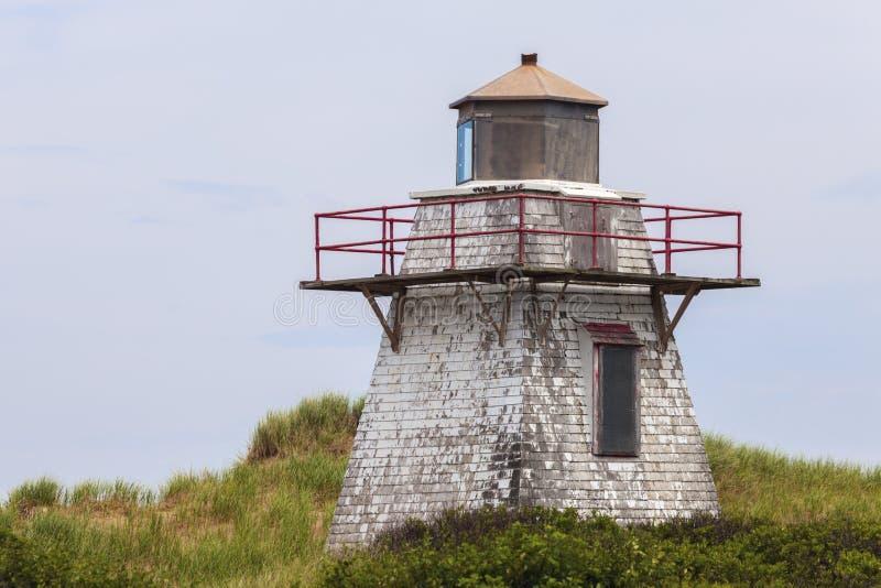 St. Peters Harbour Lighthouse auf Prinzen Edward Island stockfotografie