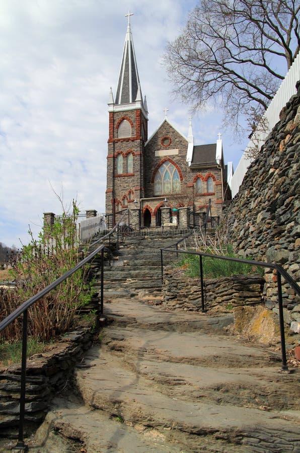 St Peters Roman Catholic Church na balsa dos harpistas foto de stock royalty free