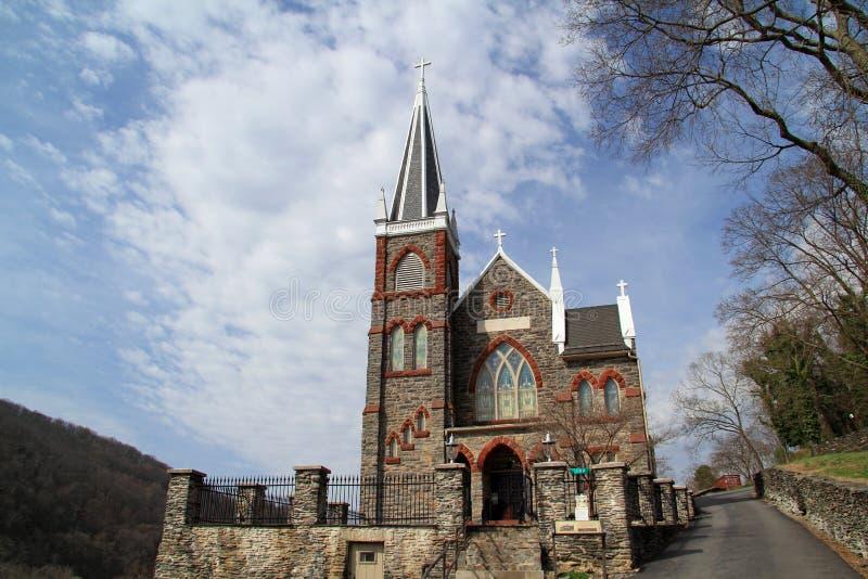 St Peters Roman Catholic Church in traghetto dei Harpers immagine stock libera da diritti
