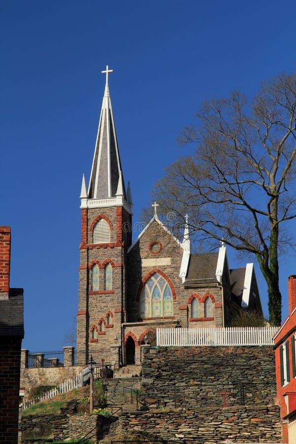 St Peters Roman Catholic Church in traghetto dei Harpers immagini stock libere da diritti