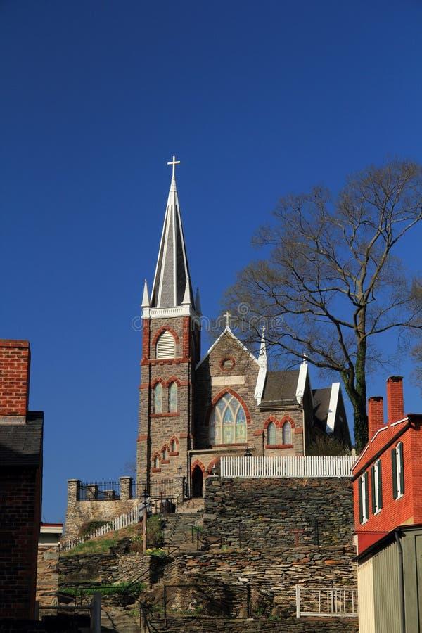 St Peters Roman Catholic Church in traghetto dei Harpers fotografia stock libera da diritti