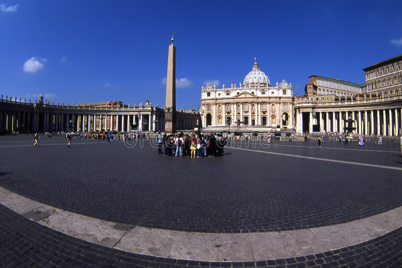 St.Peters Square.Vatican. fotografia de stock royalty free