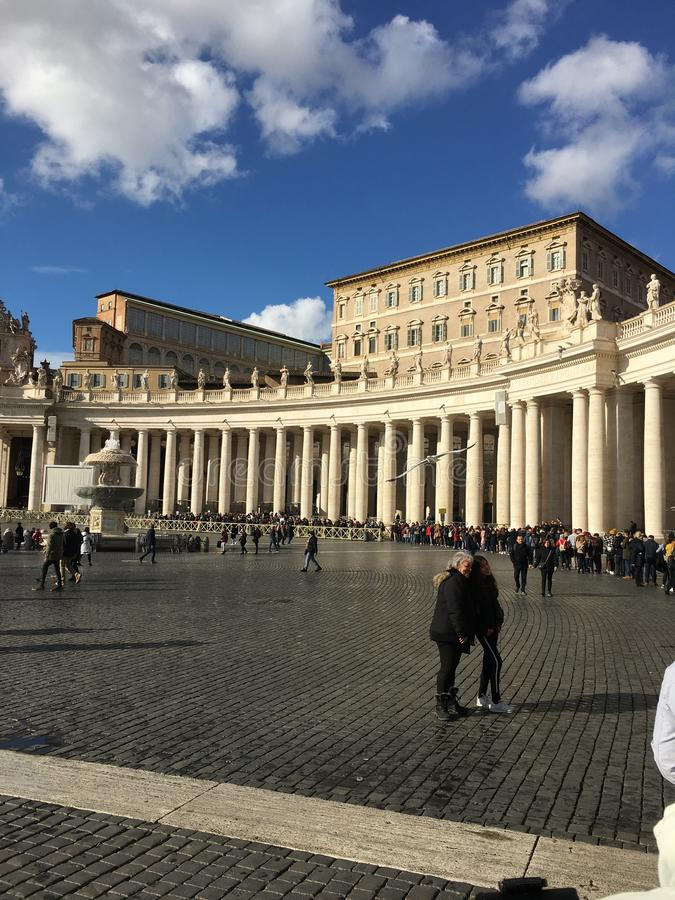Beautiful architecture at the Vatican stock photos