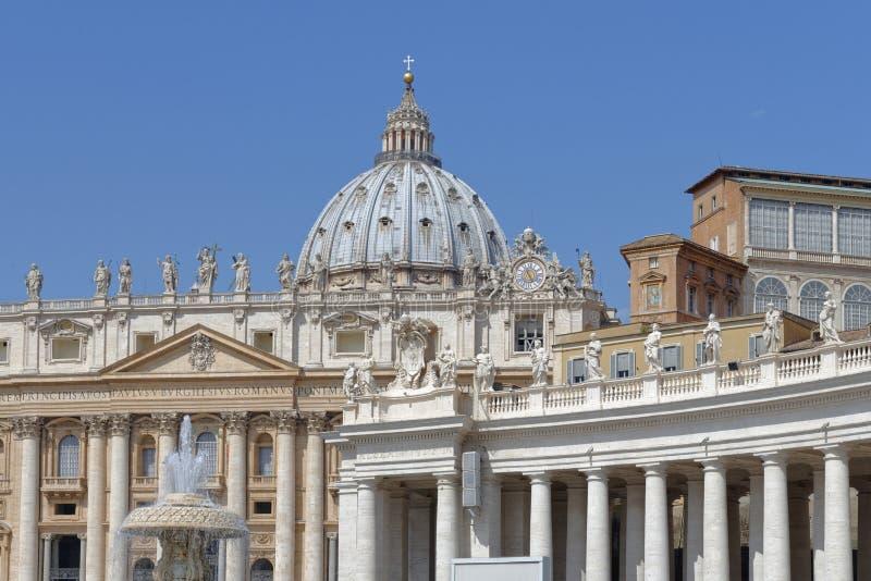 St Peters Square, Vaticano imagens de stock