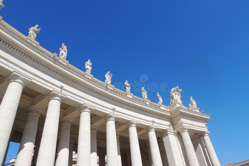St Peters Square, Vatikan lizenzfreies stockbild