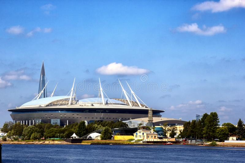 St Petersbourg d'arène de zénith de stade, RUSSIE - JULE 06, 2018 : Stade de Krestovsky photo stock
