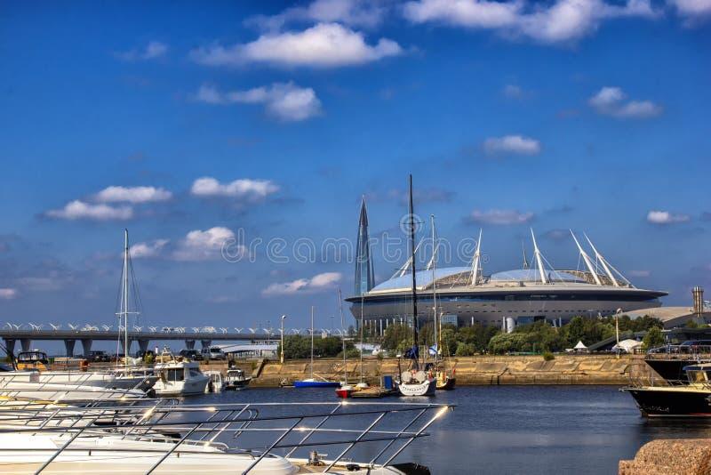 St Petersbourg d'arène de zénith de stade, RUSSIE - JULE 06, 2018 : Stade de Krestovsky photos stock