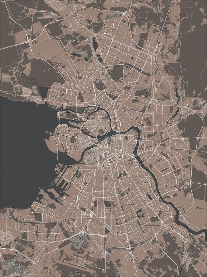 St Petersbourg de carte, Russie illustration de vecteur