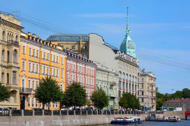 St Petersbourg, remblai de la rivière Moika photo stock