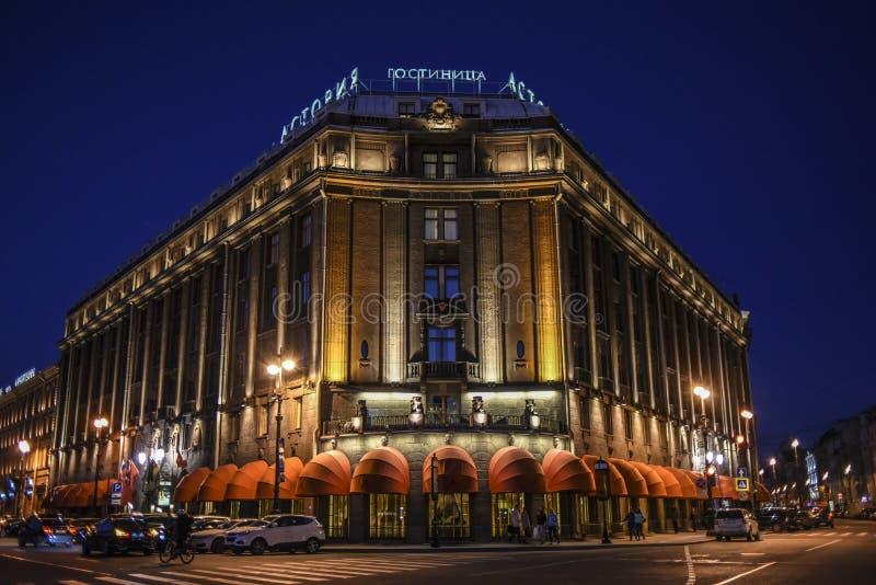 St Petersbourg, Russie, le 3 octobre 2016 : Architecture russe par nuit à Pétersbourg, Russie photo libre de droits